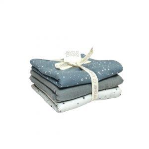 Práctico pack de toallitas de lactancia multiusos cómodo para mantener limpia la cuna de tu bebé y su cuco, limpiar sus babitas o regurgitaciones.