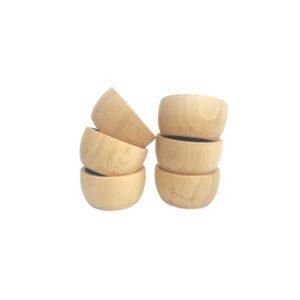 Cueco de madera natural para explorar, un material magnífico para jugar a depositar cosas dentro, meter y sacar la mano… las posibilidades son infinitas!