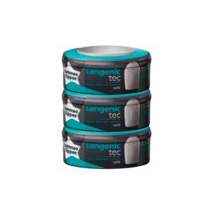 Pack de 3 Recambios Sangenic Tec, los pañales se envuelven de forma individual garantizando una protección antibacteriana y contra olores del 99%.