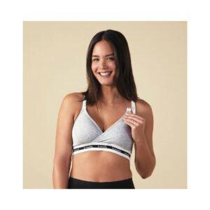 El Sujetador de Lactancia Original Gris Bravado te servirá para todas las etapas del embarazo, postparto inmediato y también durante la lactancia.
