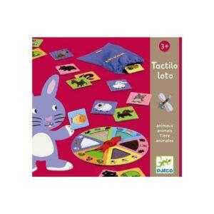 Con el juego de descubrimiento táctil Tactiloloto Animales de Djeco, los peques desarrollarán el sentido del tacto y la memoria mientras se divierten.