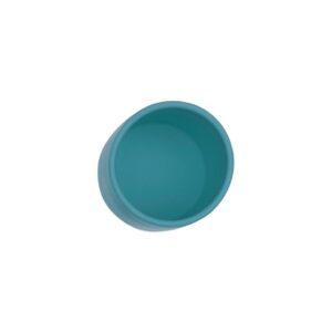 El vasito de silicona Anochecer Azul de la marca We Might Be Tiny, es ideal para la etapa de transición y está hecho de silicona de alta calidad.